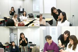 横浜ウーマンビジネスフェスタ登壇者用のメイクセミナー/美キャリアラボ