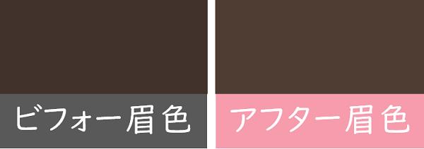 眉毛の色の変化